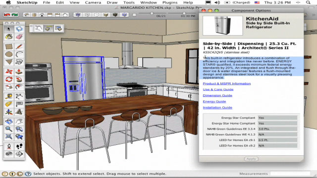 Google sketchup modelado en 3d soporte inform tico for Programa para disenar cocinas integrales